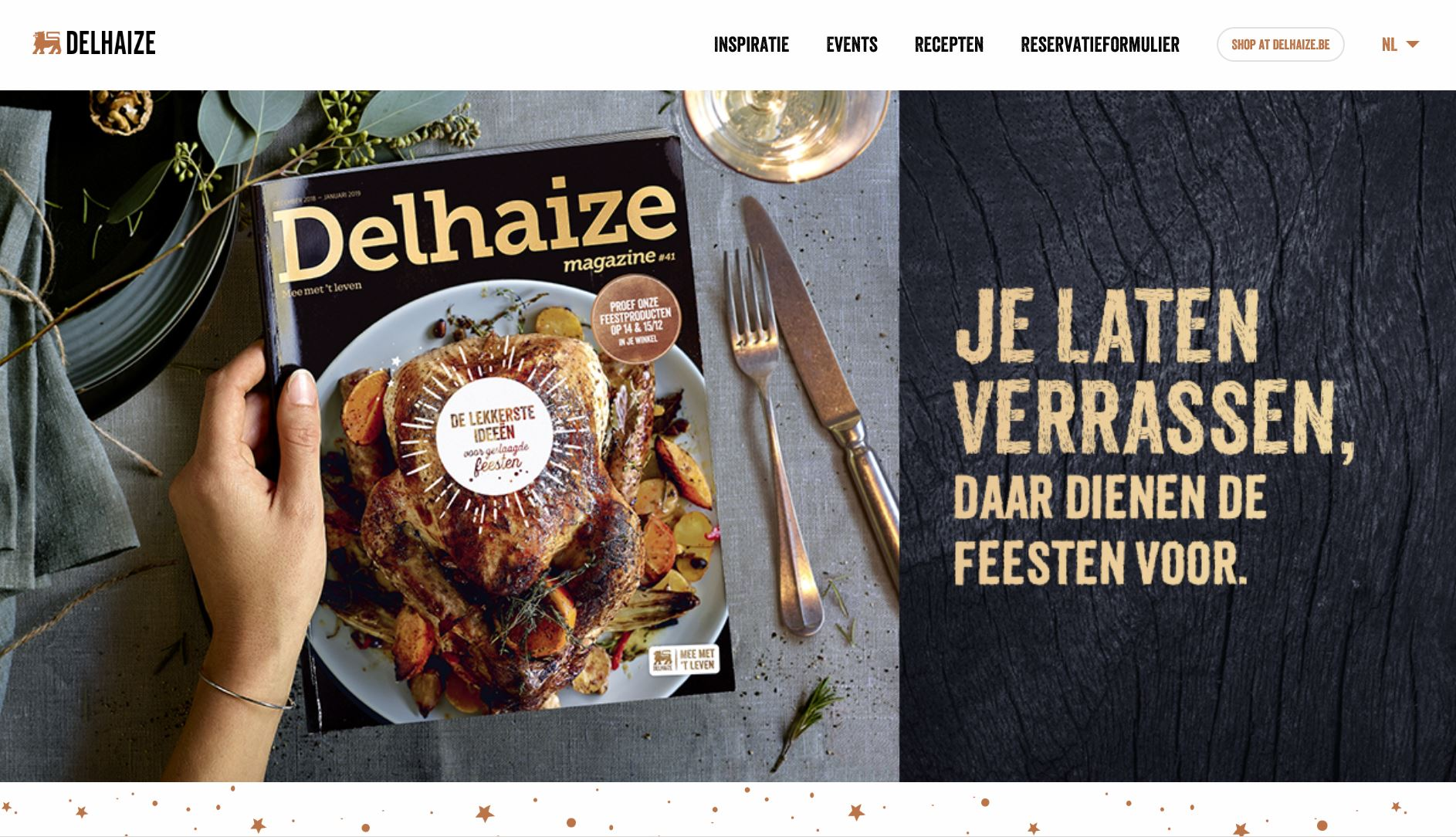 Delhaize - website - End of year magazine