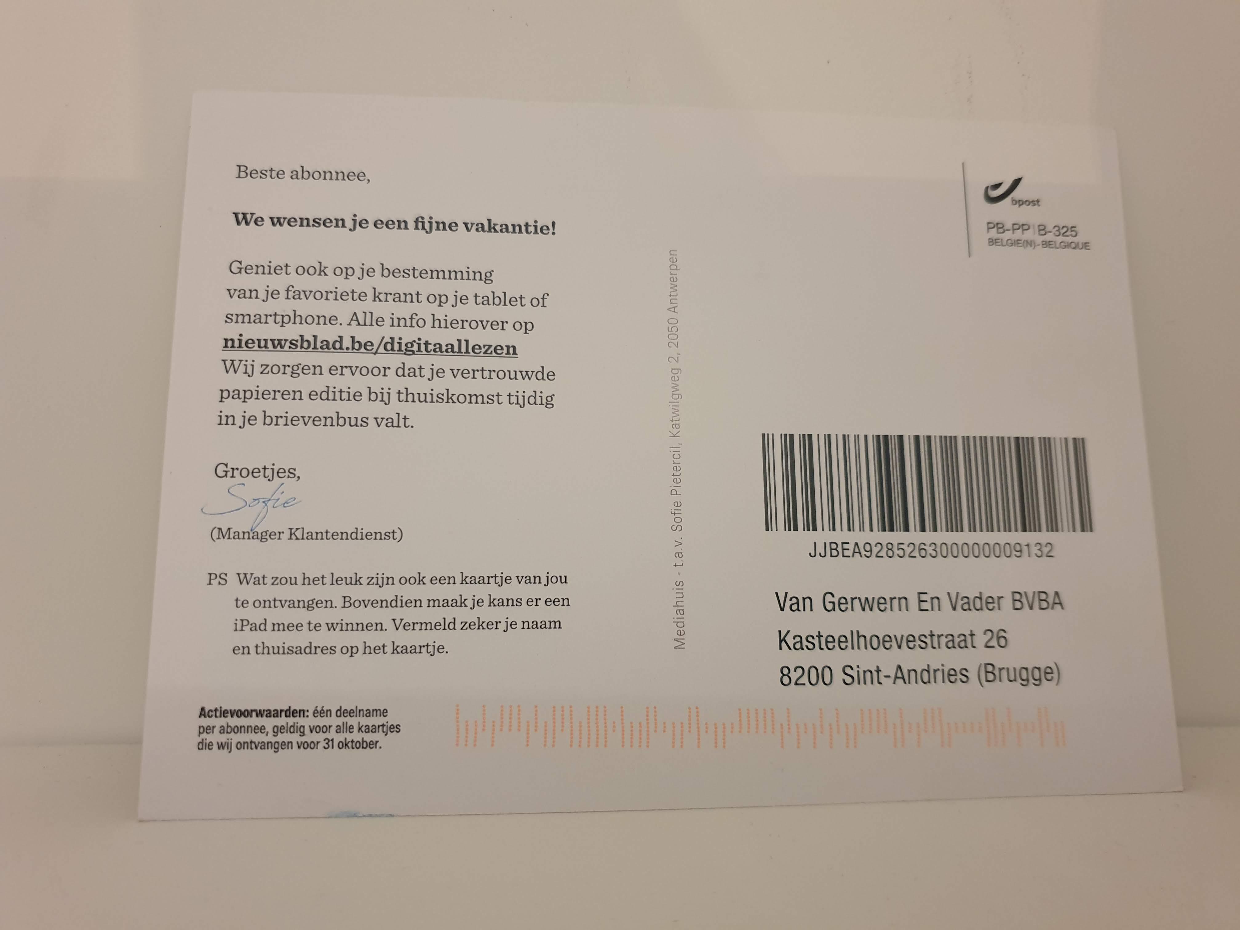 Nieuwsblad-Postcard-Momentum-RelationalMarketing-2