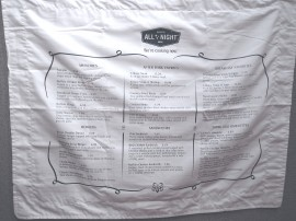 Denny pillowcase menu